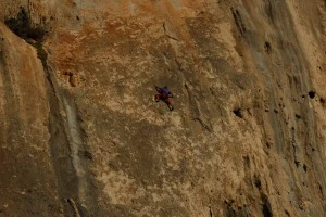 Yves Remy on Saphir 6c, Olympic wall. Photo: Claude Remy